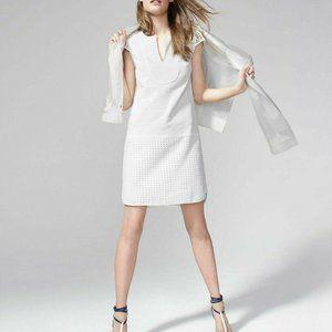 J. CREW Triple Eyelet Shift Dress M White C1587